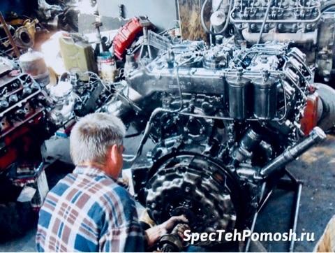 Ремонт двигателя бульдозера на выезде