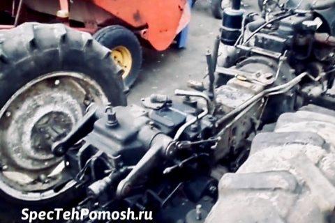 Ремонт ходовой части трактора на выезде